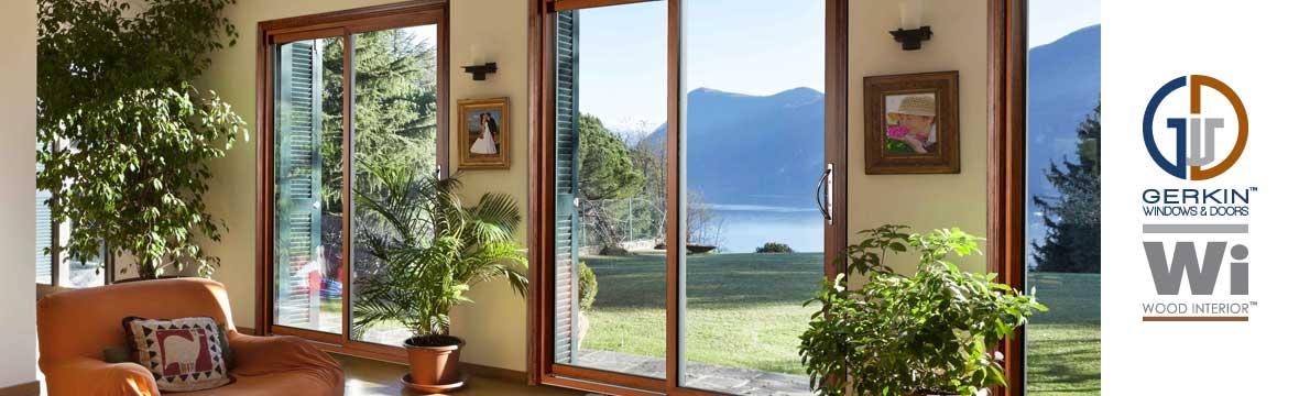 4400 Wood Interior Sliding Glass Vinyl Door